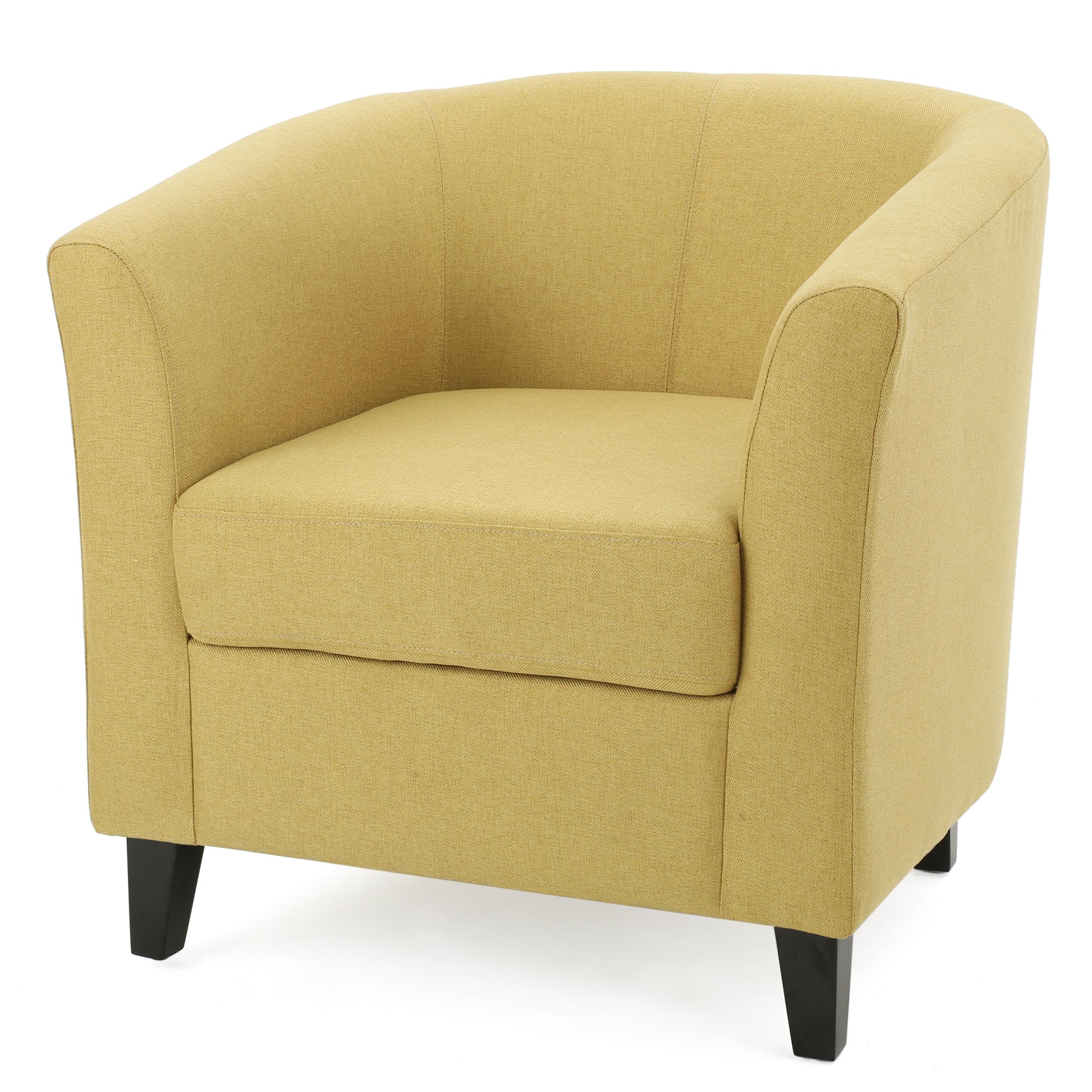 Naria Fabric Club Chair, Light Green
