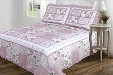 Legacy Decor 3 PC Quilted Bedspread Coverlet Mauve and Cream Floral Patchwork Design with... by Legacy Decor