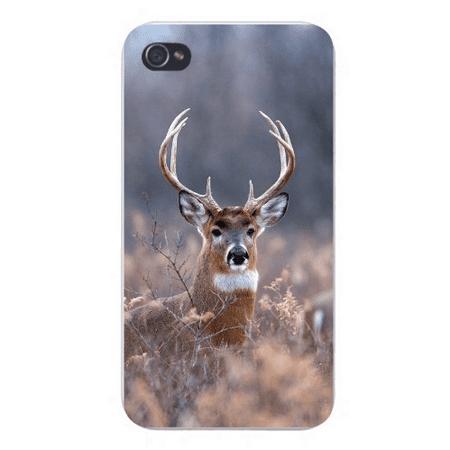 Apple Iphone Custom Case 5 / 5s AND SE White Plastic Snap on - Big Deer Buck w/ Antlers Head in The Brush](Plastic Antlers)