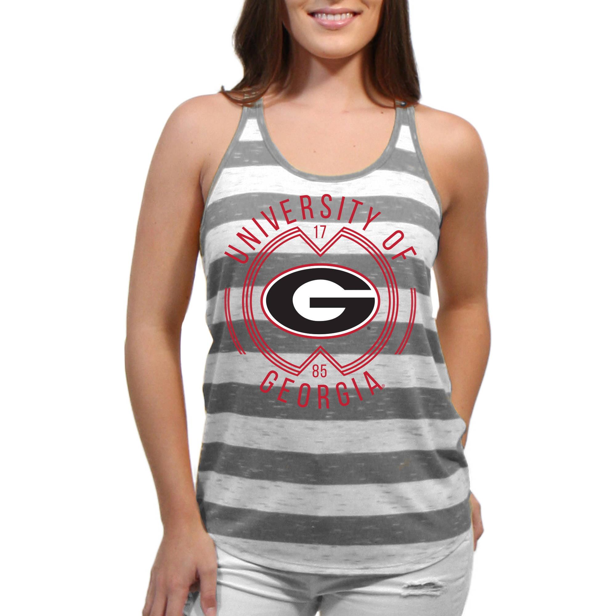 Georgia Bulldogs Intersecting Circles Women'S/Juniors Team Tank Top