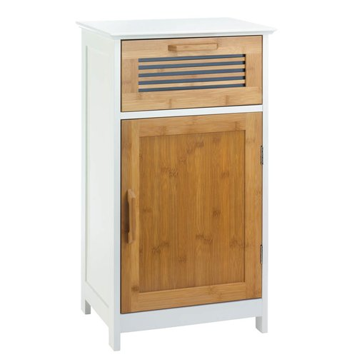 Millwood Pines Tetrault Bamboo Floor 1 Drawer Accent Cabinet