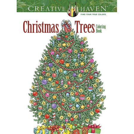 Creative Haven Christmas Trees Coloring Book - Palm Tree Coloring Page