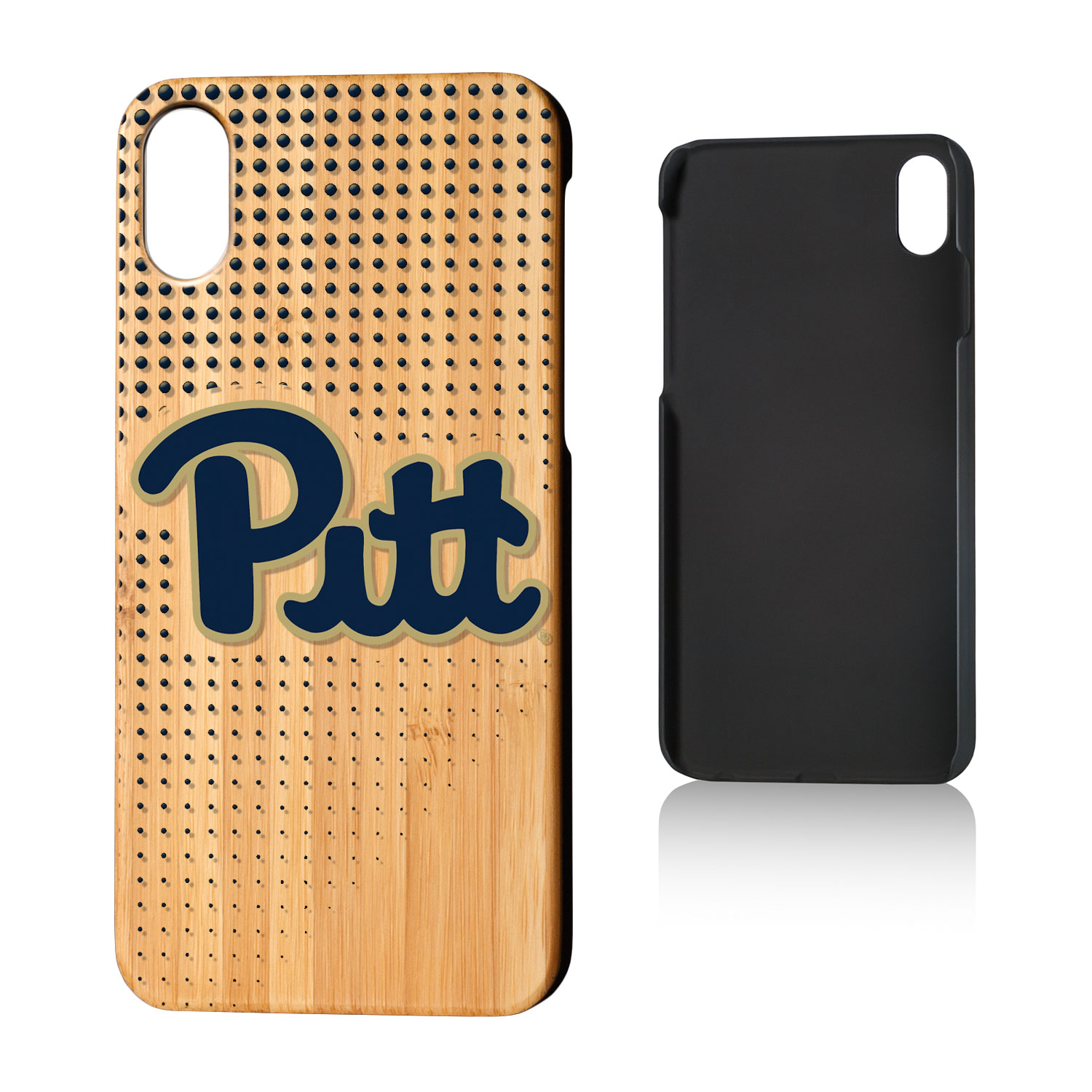 U of P Pittsburgh Panthers Dots Bamboo Case for iPhone X