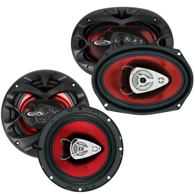 "NEW BOSS CH6530 6.5"" 3 Way300w + 6x9"" CH6930 350W Car Coaxial Speakers Package"