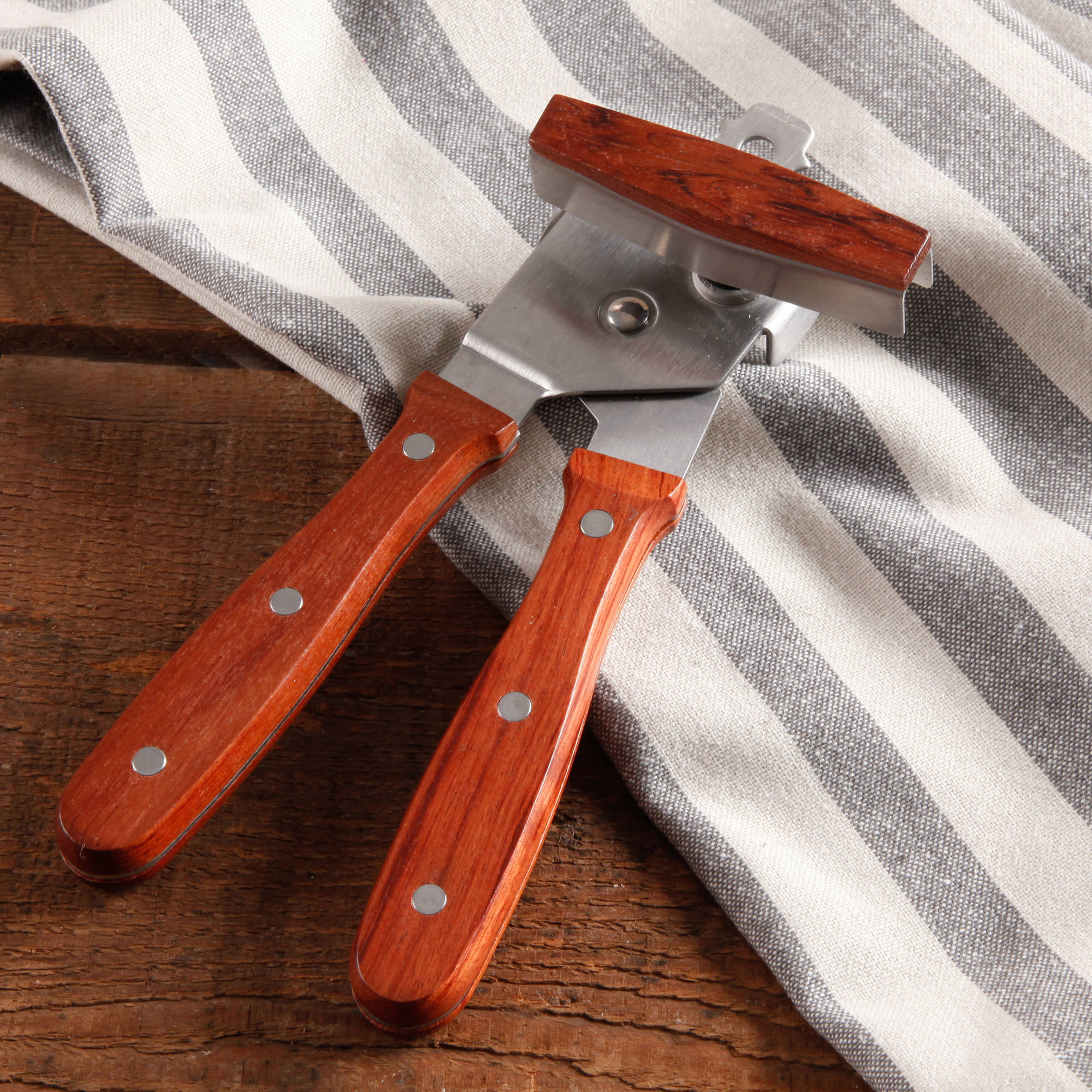 The Pioneer Woman Cowboy Rustic Rosewood Handle Can Opener