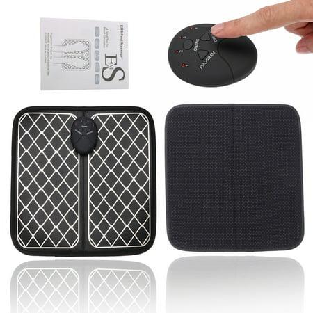 Portable Shiatsu Foot Massager Machine Electric Deep Kneading Mat Rechargeable, 6 Modes Massager, 10 (10 Motor Massage Mat)