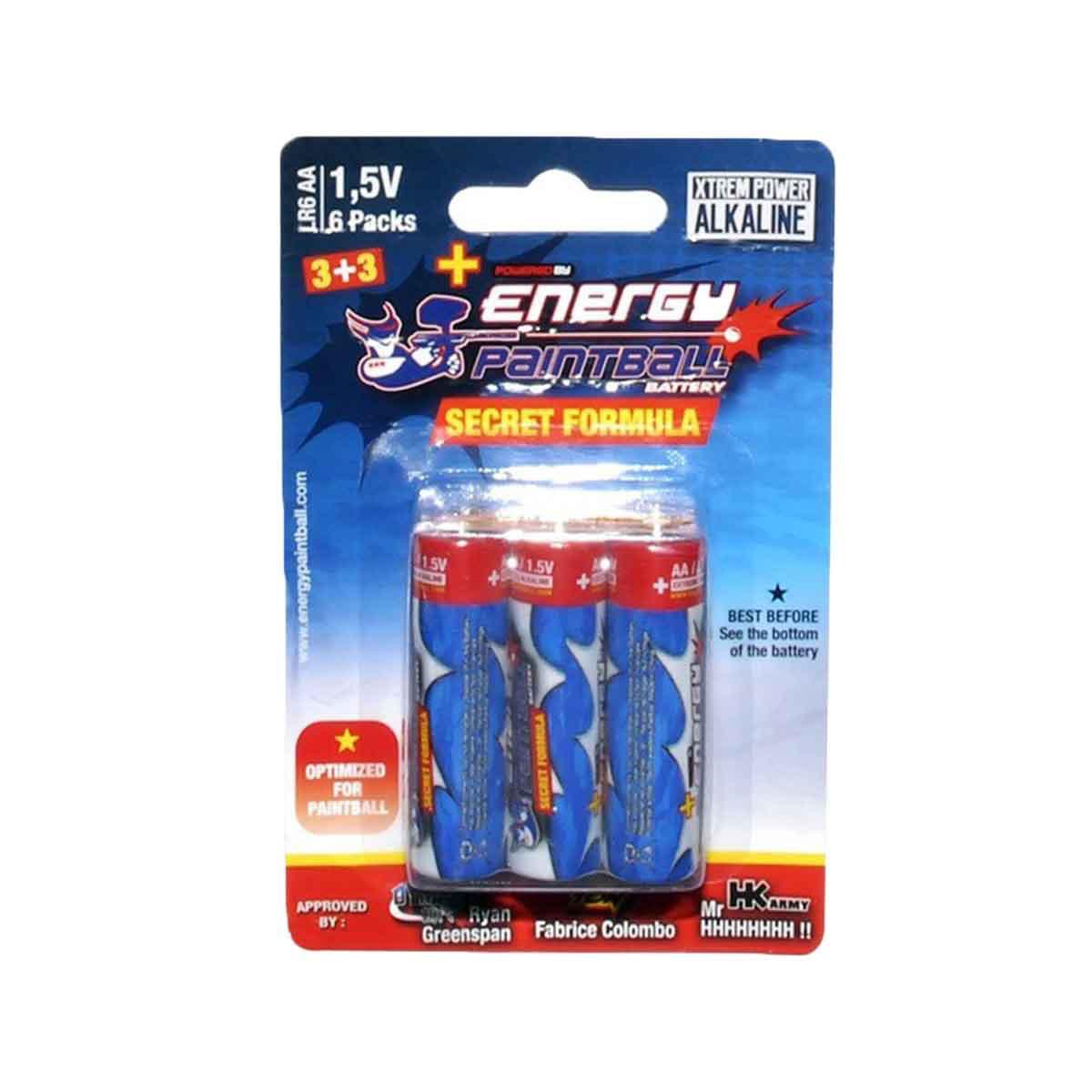 Energy Paintball Batteries Secret Formula AA 6 Pack by Energy Paintball