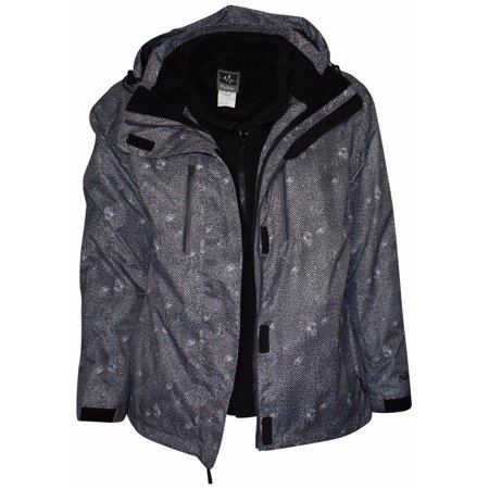 c3066c0b1fd Pulse - Pulse Women s Plus Extended Size 3in1 Zig Zag Boundary Snow Ski Jacket  Coat 1X - 6X - Walmart.com