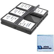 eCost 12 pc Foldable SD Memory Card Case Microfiber Cloth