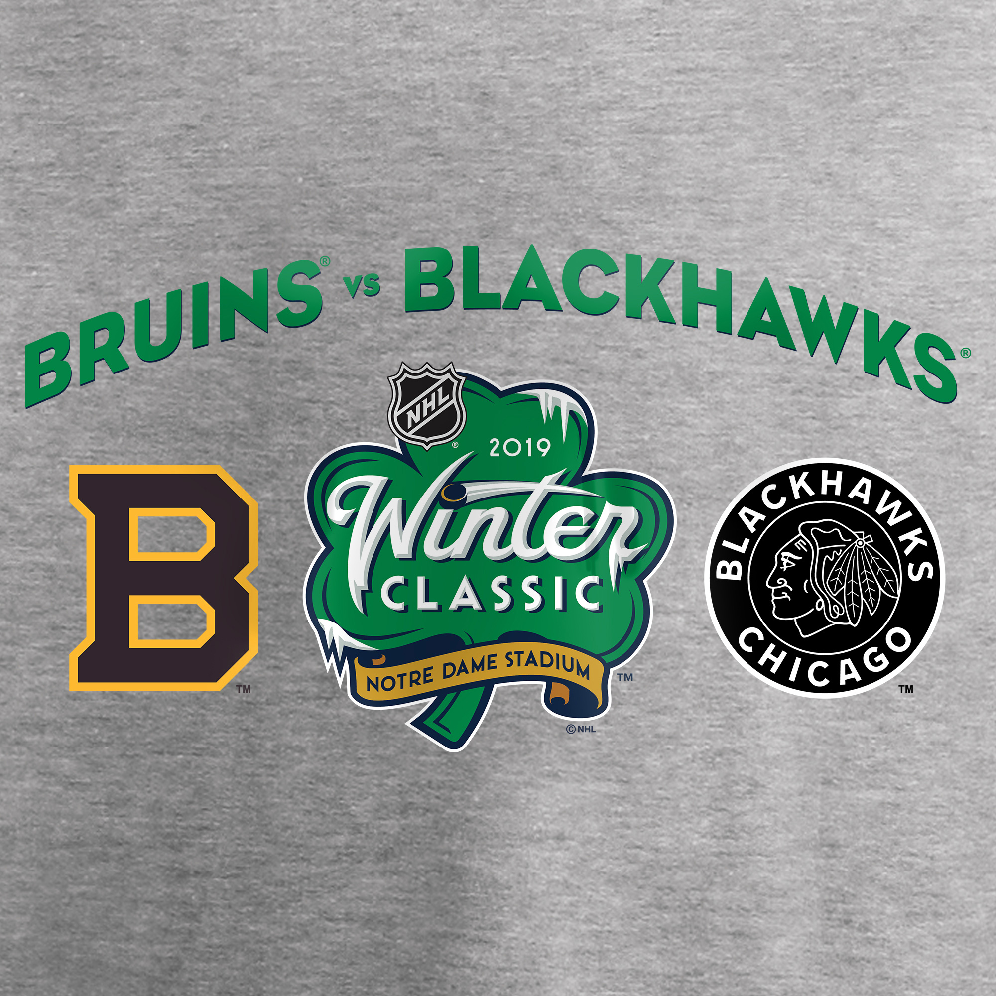 f855d1774 Fanatics Branded Women s 2019 Winter Classic Matchup T-Shirt - Heather Gray  - Walmart.com