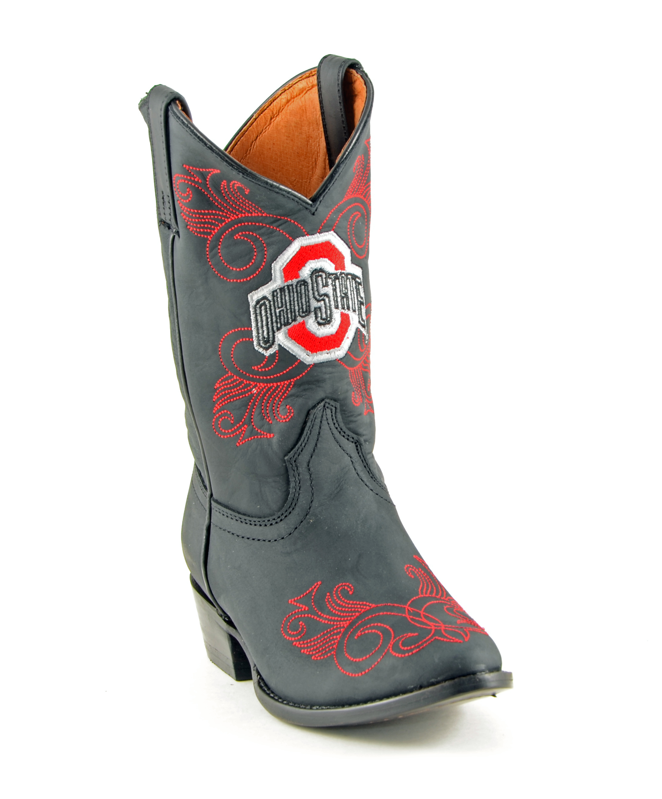 Gameday Boots Girls Cowboy College Team Ohio State Black OST-G020-2