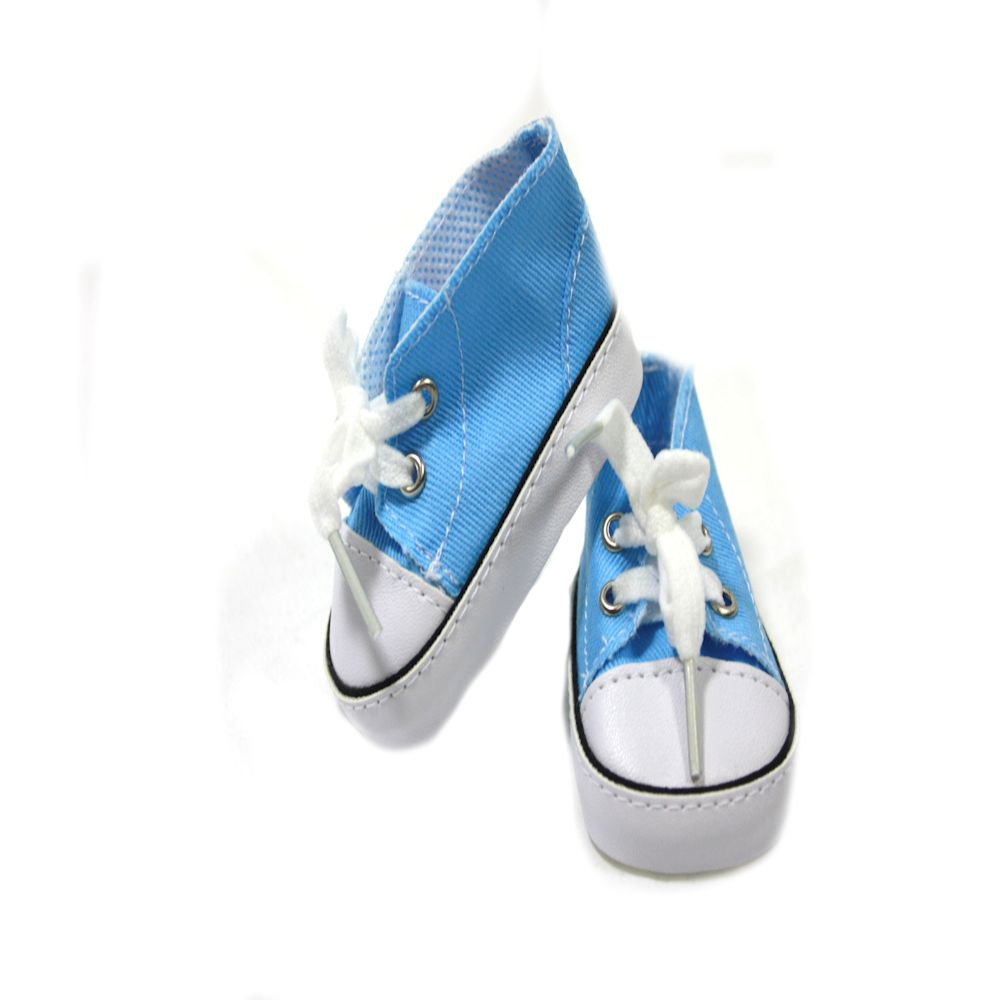 Dream Big Wholesale Doll Clothes Arianna Blue Low Cut Canvas Sneaker