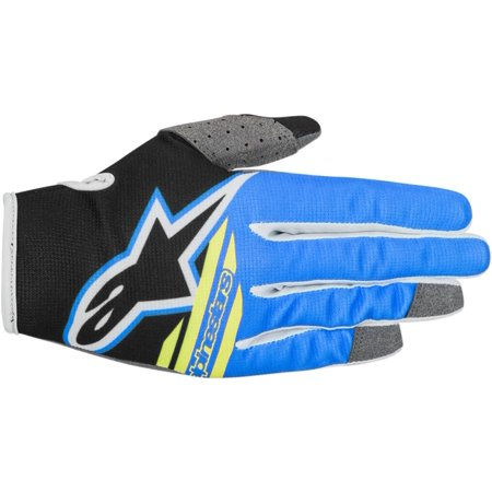Alpinestars Radar Flight S8 Youth MX Offroad Gloves Blue/Gray/Yellow