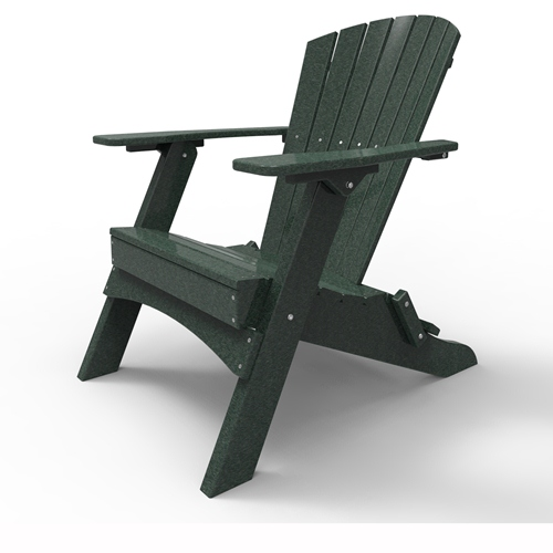 Folding Adirondack Chair by Malibu Outdoor - Hyannis, Turf Green