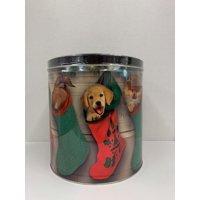 Signature Brands Stocking Puppies 24 Oz Holiday Pcorn Tin