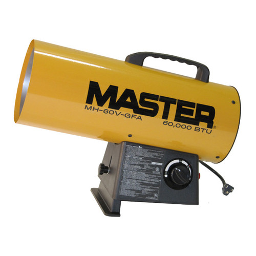 Master 60,000 BTU Portable Propane Forced Air Utility Heater with Variable Control