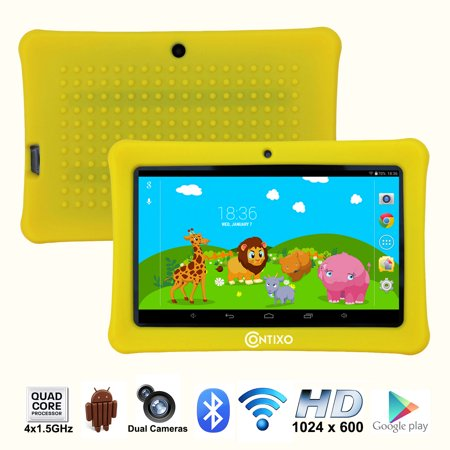"Contixo (LA703-KIDS-1 Yellow) 7"" Kids Tablet K1 
