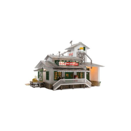 Woodland Scenics Scenic Glue - Woodland Scenics BR5859 O Scale Built-Up H&H Feed Mill Building