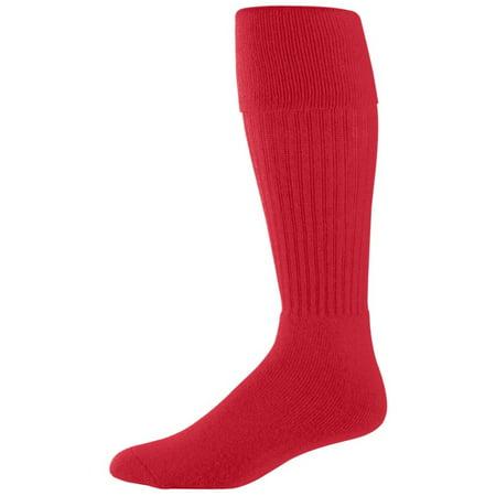 - Augusta Sportswear Men's Knee-length Soccer Sock, Red, 7-9