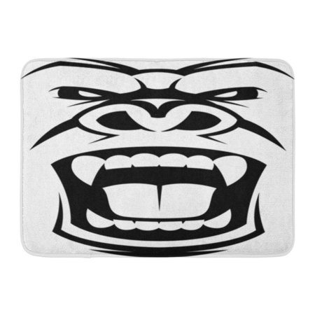 GODPOK Scream Ape Angry Gorilla Head Animal Monkey Rug Doormat Bath Mat 23.6x15.7 inch - Screaming Doormat
