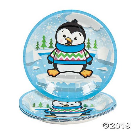 Penguin Party Paper Dessert Plates