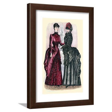 Godey's Lady's Book Winter 1884 Fashion Plate Framed Print Wall Art By (Harker Godey Prints)
