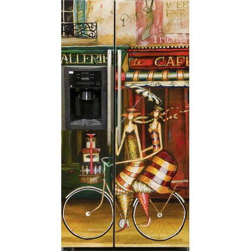 Appliance Art Girlfriends in Paris Side by Side Refrigerator Cover