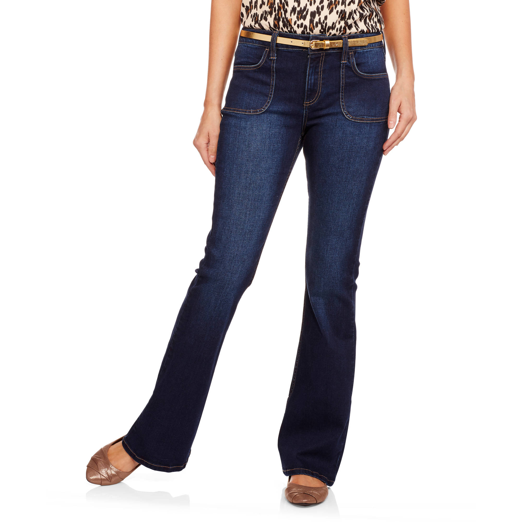 Women's Beatnik Porkchop Pocket Flare Jean featuring Premium Stretch