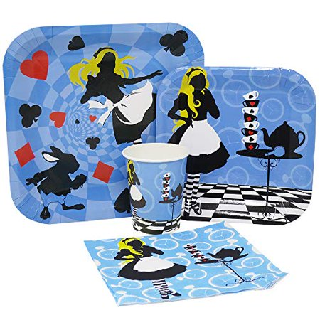 Blue Orchards Alice In Wonderland Standard Party Packs 65 Pieces For 16 Guests Mad Hatter Decorations Alice Birthday Supplies Walmart Canada