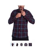 Barbour Men's Tailored-Fit Plaid Shirt Merlot Size Small