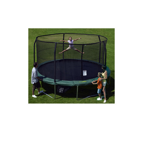 15ft Trampoline Net for Trampolines with 5 Curved Poles and Top Ring