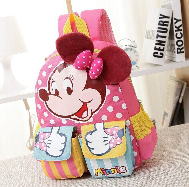 Minnie Cartoon Baby Girl Boy School Book Bag 3D Ears Kindergarten ...