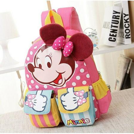 Minnie Cartoon Baby Girl Boy School Book Bag 3D Ears Kindergarten Backpack Shoulder Hot