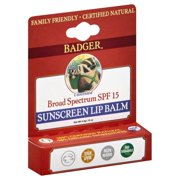 Badger - Sunblock Lip Balm Water Resistant 15 SPF - 0.15 oz.