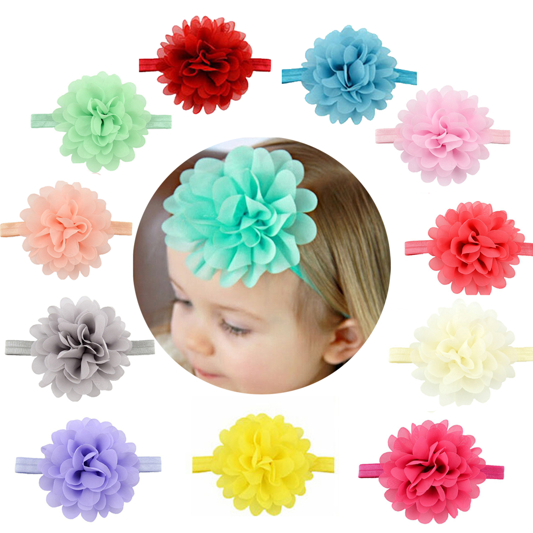 12Pcs Baby Headbands, Aniwon Ribbon Hair Bows Wrap Fashion Flower Hairbands For Teens Women Girls Kids(Colorful)