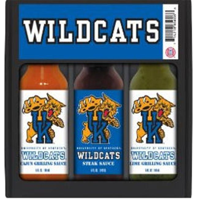 Hot Sauce Harrys 5708 KENTUCKY Wildcats Mini Grilling Set - 5oz