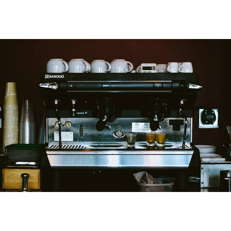 Framed Art For Your Wall Coffee Espresso Machine Cups Restaurant Cafe 10x13 Frame