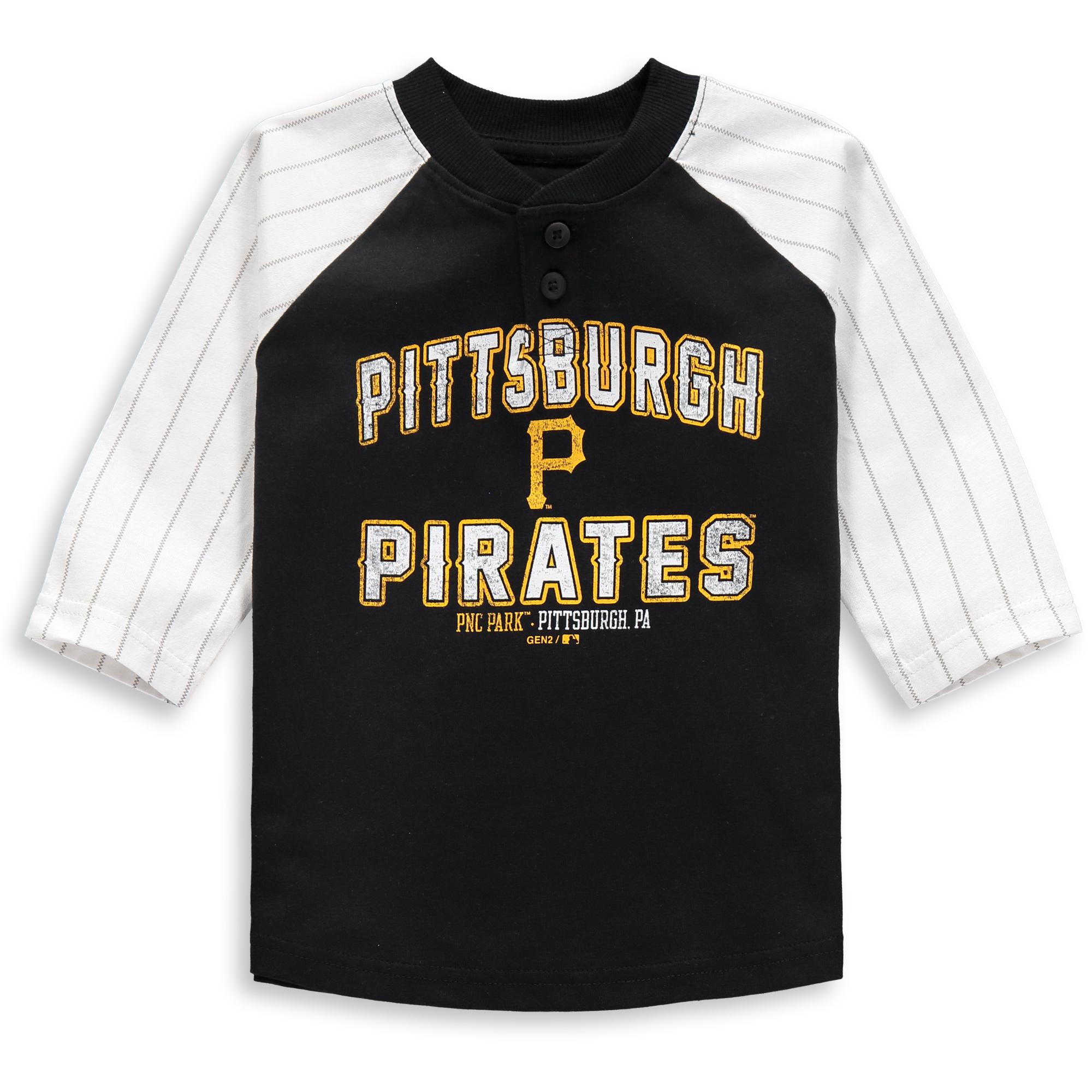 Pittsburgh Pirates Toddler The Original 3/4-Sleeve T-Shirt - Black