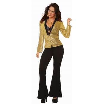 DISCO SEQUIN BLAZER-STD - GOLD - FEMALE](Gold Sequin Blazer)