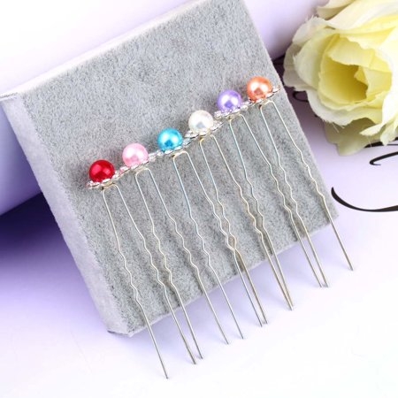 OUTAD 1 pcs Simulated-Pearl Crystal Flowers Hair Clip Hairpin Jewelry Acessories - image 12 of 13