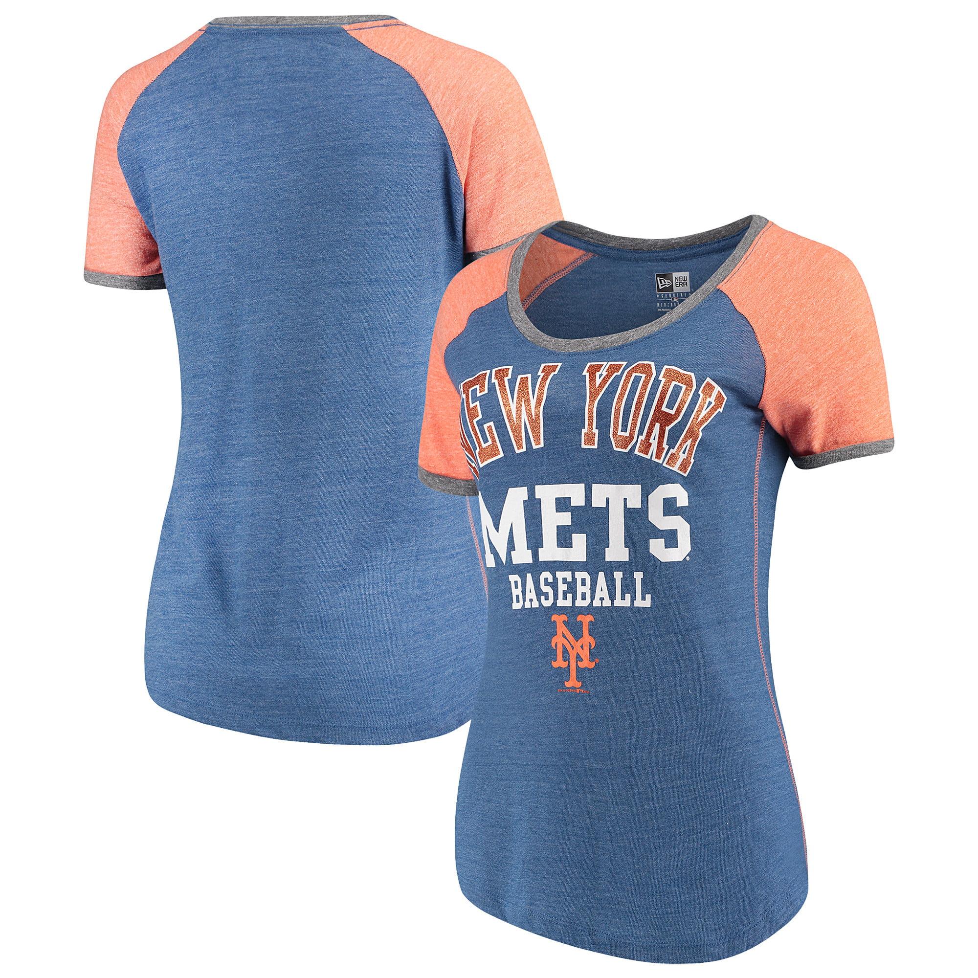 New York Mets 5th & Ocean by New Era Women's Jersey Tri-Blend Raglan T-Shirt - Royal