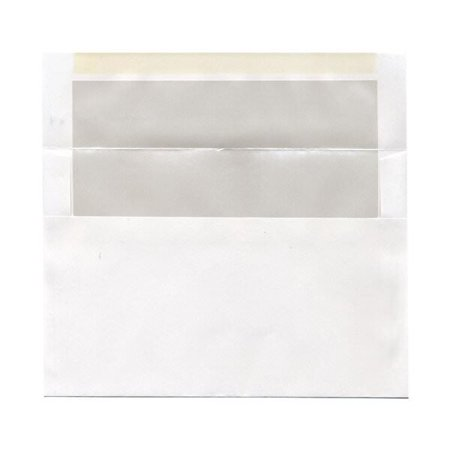 JAM Paper A9 Foil Lined Envelopes, 5 3/4 x 8 3/4, White with Ivory Foil Lining, (Printed Envelope Lining)
