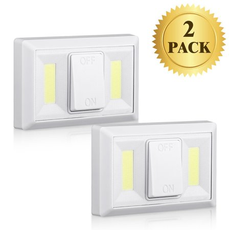 EEEKit 220 Lumen COB LED Light Switch,Stick Anywhere Magnetic Closet Light Switch,Battery Operated Closet Lights,Ultra Bright LED Night Light for Shelf, Safe, Car Trunk, Under Cabinet, (Bright Light Switch On Floor Of Car)