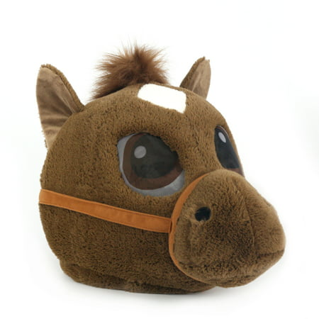 Maskimals Oversized Plush Halloween Mask - Horse - Roupa Halloween Masculina
