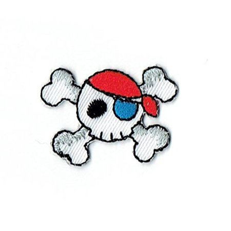 Pirate Skull Crossbones Jolly Roger Iron on Embroidered Patch