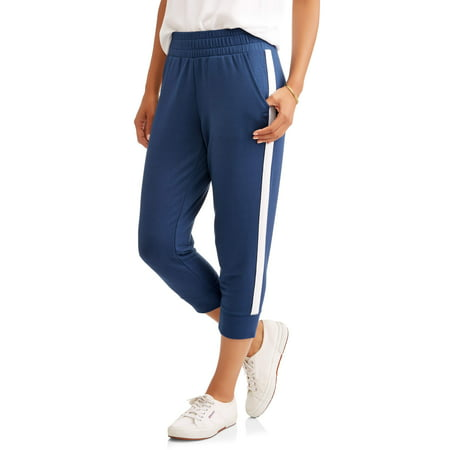 Women's Athleisure French Terry Jogger Pant with Athletic Side Stripe