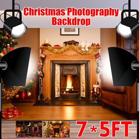 7x5ft Christmas Santa Vinyl Custom Backdrop Photography Prop Background Merry Christmas](Christmas Props Photography)