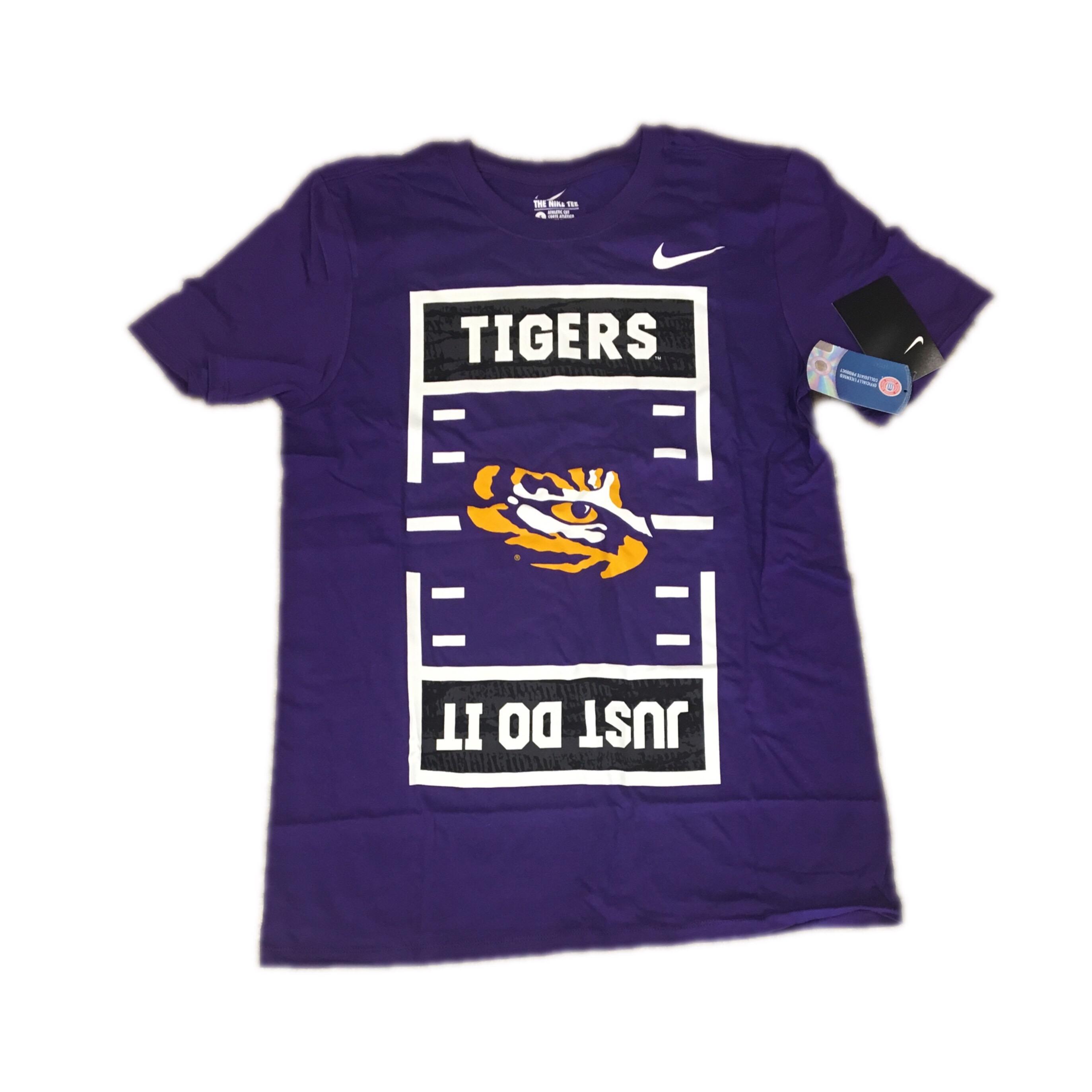 "LSU Tigers Football Nike Men's ""Just Do It"" Shirt Small"