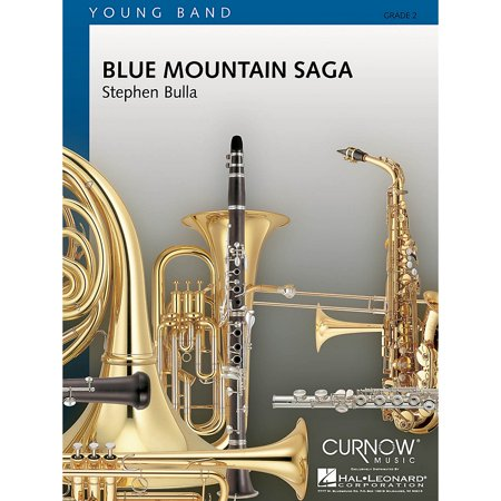 Curnow Music Blue Mountain Saga (Grade 2 - Score Only) Concert Band Level 2 Composed by Stephen -