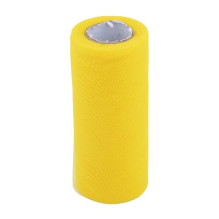Polyester DIY Sewing Tutu Skirt Shirt Decor Tulle Spool Yellow 6 Inch x 25 Yards - Tulle Tutu Diy
